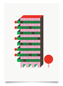Image of High-Rise Green print