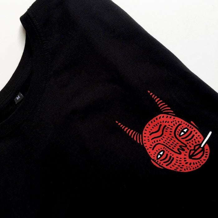 Image of Black Devil Head T-shirt (Unisex)- By Polly Nor