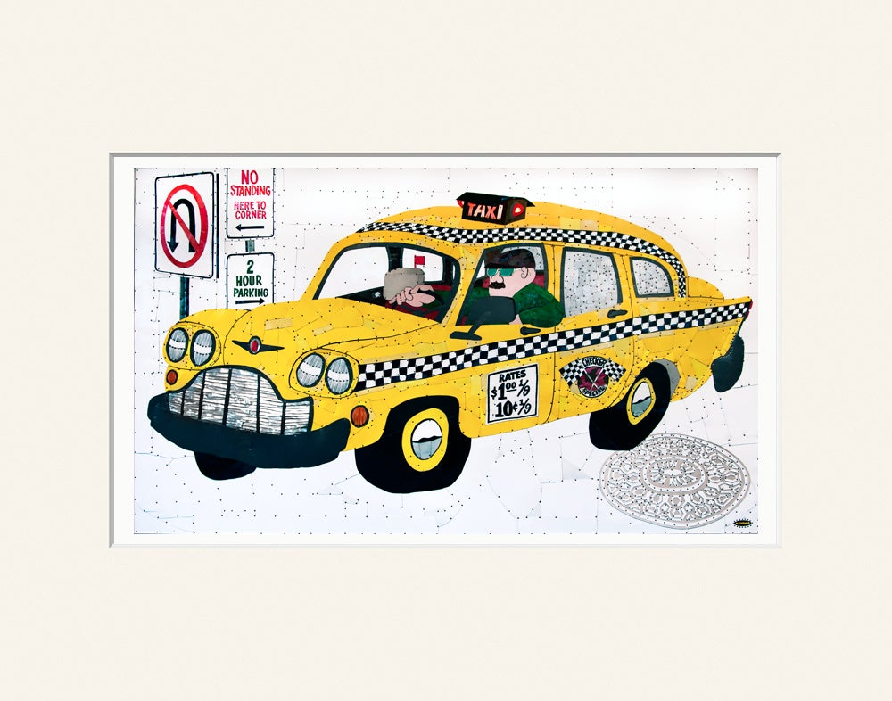 Image of Taxi -  High Quality Digital Prints - Two Sizes