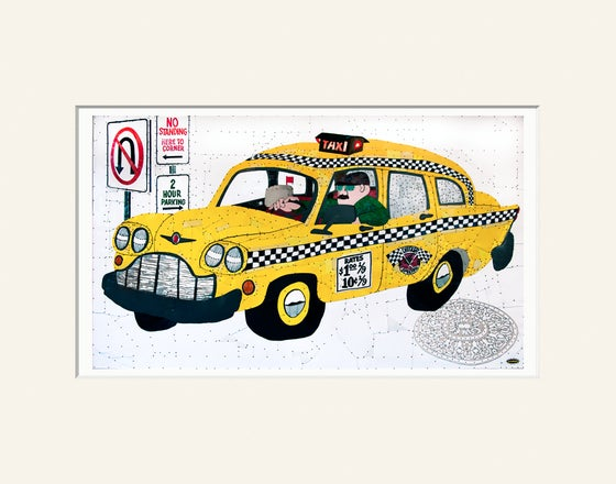 "Image of Taxi - 11""x14"" High Quality Matted Digital Print"