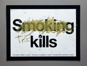 Image of The Kills 2016 Tour poster GOLD