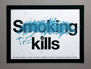 Image of The Kills 2016 Tour poster BLUE