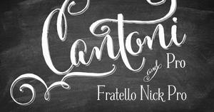 Image of Cantoni Pro Font & Fratello Nick Pro Bundle