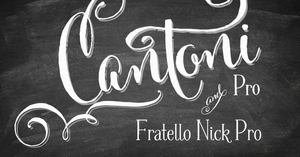 Image of WEBSITE SPECIAL! Cantoni Pro Font & Fratello Nick Pro Bundle