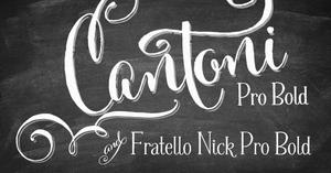 Image of WEBSITE SPECIAL! Cantoni Pro Bold & Fratello Nick Pro Bold Bundle