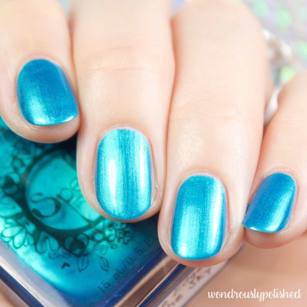 ~The Edge of the Sky~ deep teal/turquoise/blue chrome nail polish!