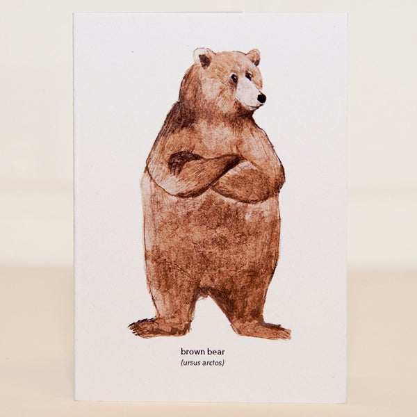 Image of Brown Bear Mini Card