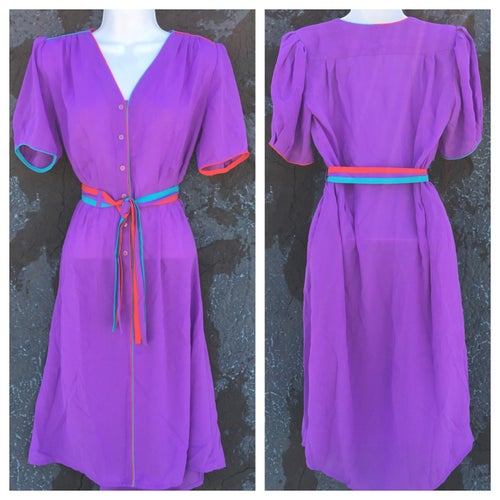 Image of Cool Colorblock Vintage Shirt Dress