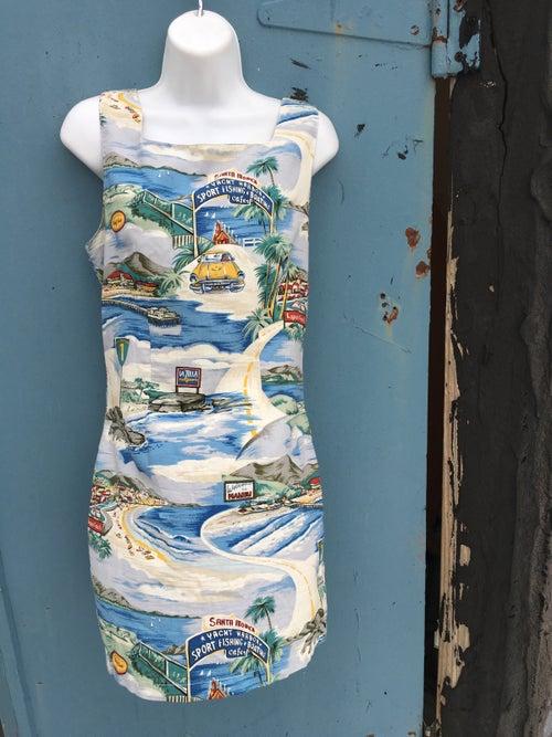 Image of Vintage Hawaiian 50s Motif Mini Dress