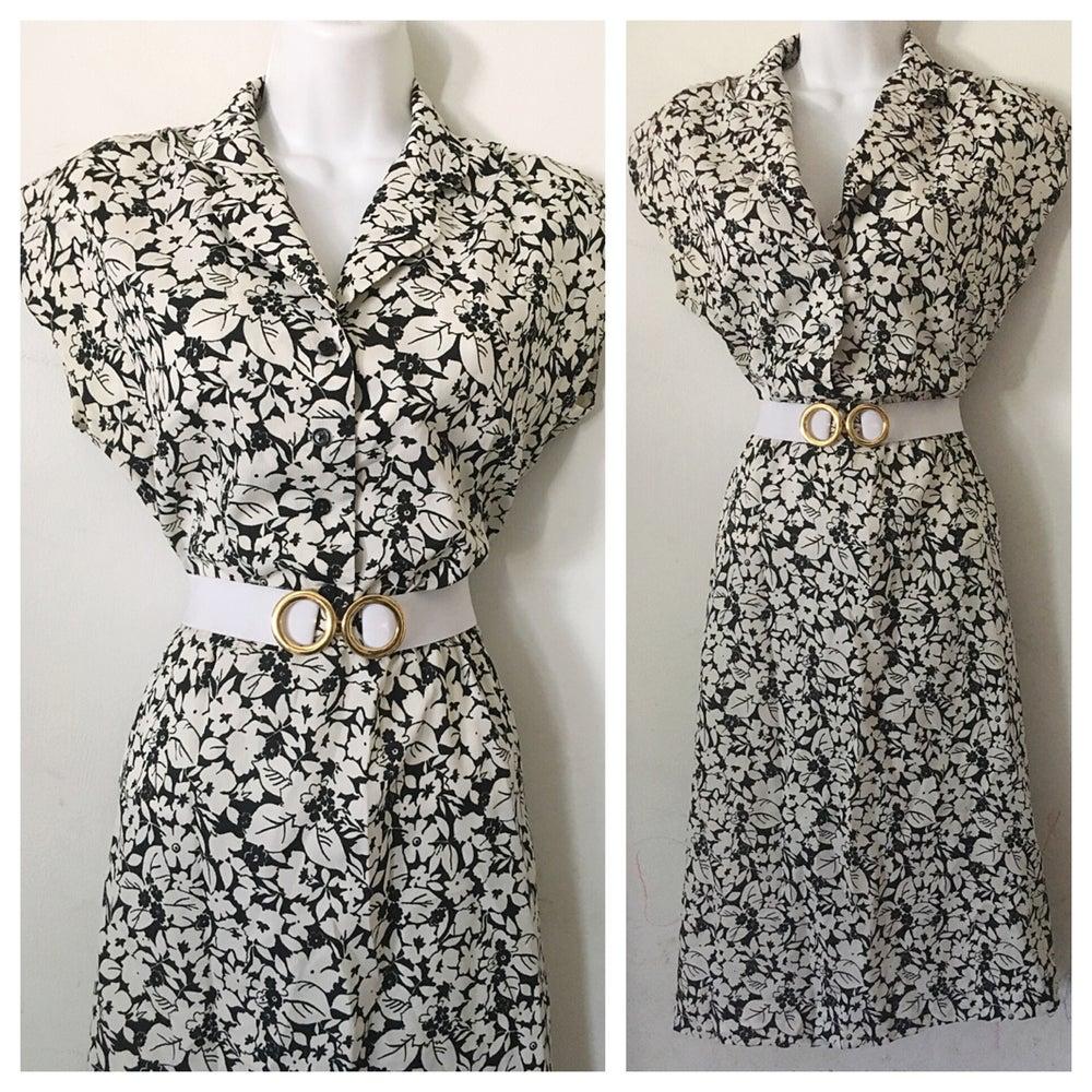 Image of Crisp Foliage Vintage Dress