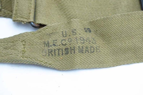 Image of WW2 US Musette Strap British Made and 1943 Dated