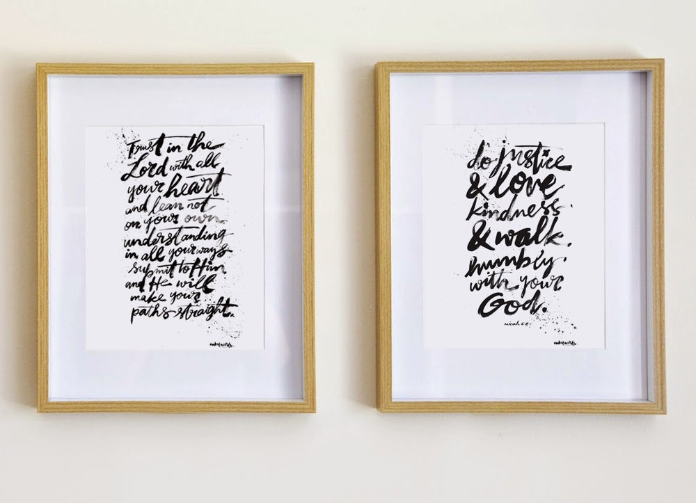 Image of 'The Scriptures Series' - Limited Edition A4 Prints
