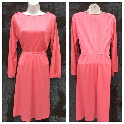 Image of Long Sleeve 70s Secretary Midi Dress