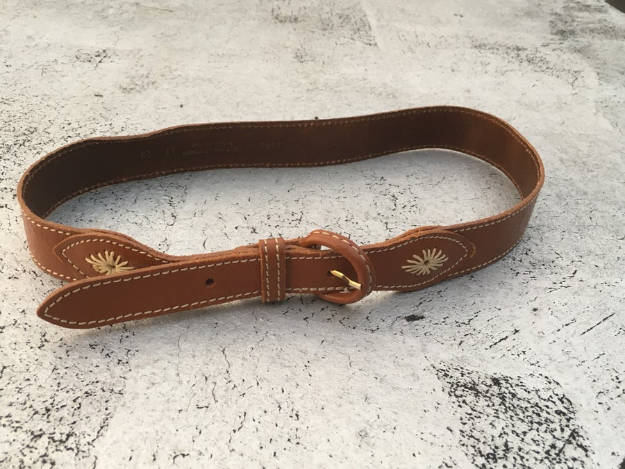 Image of Vintage Leather Cowgirl Belt