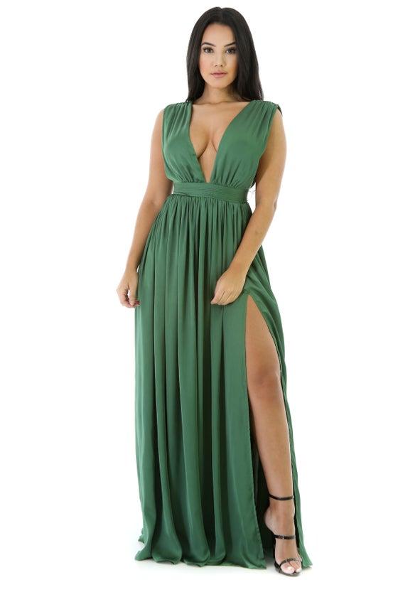 Image of Sapphire Chiffon Dress