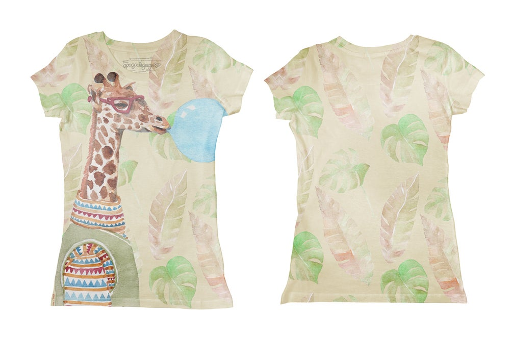 Image of Giraffe (tee-shirt fille)
