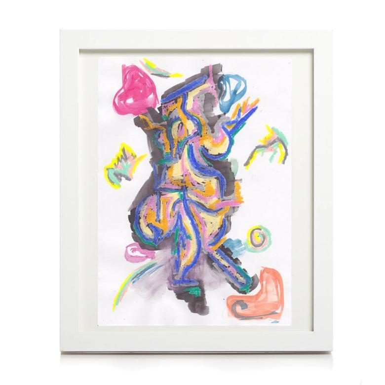 Image of 'garden creature' print