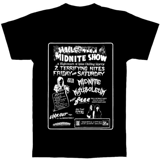 "Image of MIDNITE MAUSOLEUM ""Halloween"" glow in the dark SHIRT"