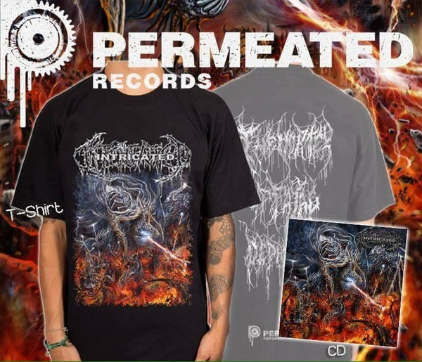 Image of Intricated - Vortex Of Fatal Depravity CD + T-Shirt Combo