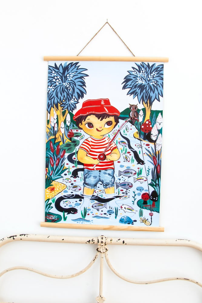 Image of 40% OFF Fly Fish'n Fred Wall Art - (available in A2 & A1)