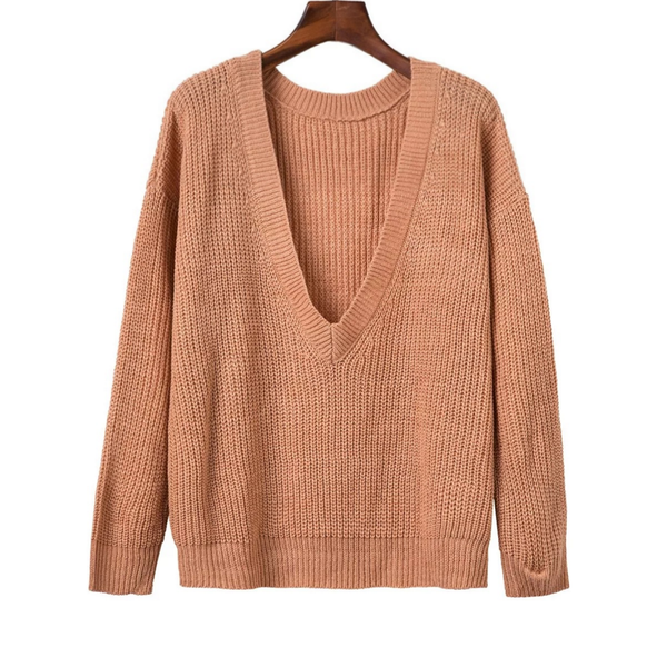 Image of New autumn and winter knit shirt worn more female hedging loose sweater