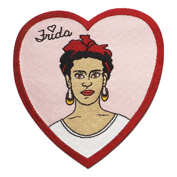 Image of Heart Frida Iron-on Patch
