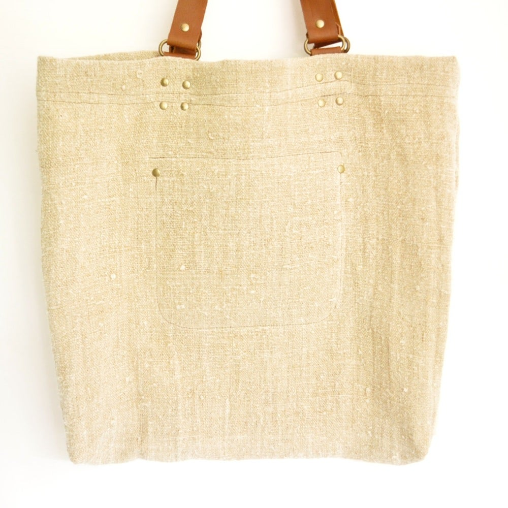 Image of ★Bessie Linen Tote - Black star