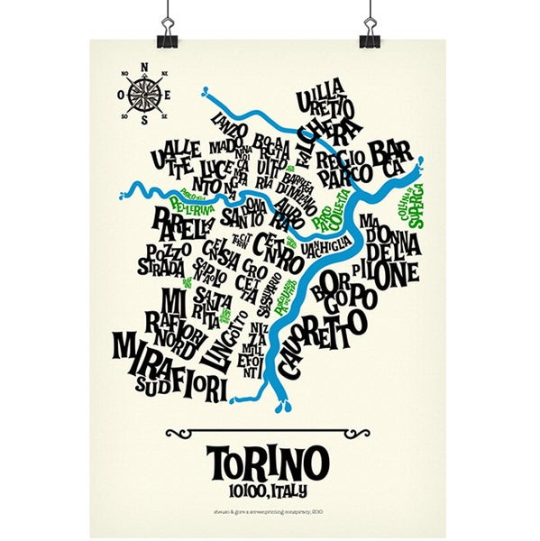 Image of TORINO - Typographic Map