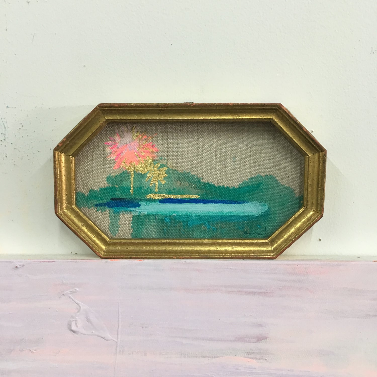Image of 101 from the 101 No. 72 (pink & gold leaf palms)