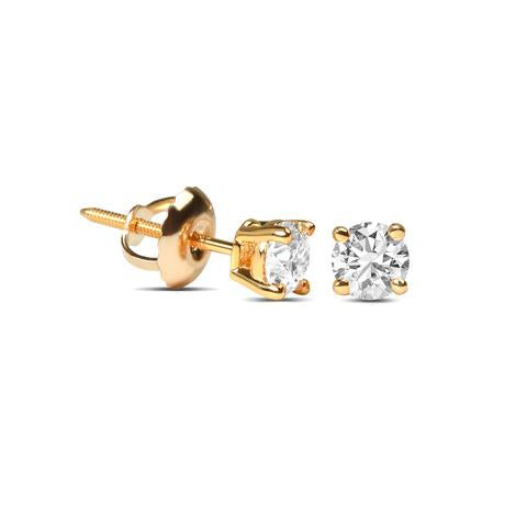 Image of Solitaire Diamond Studs Total 0.50