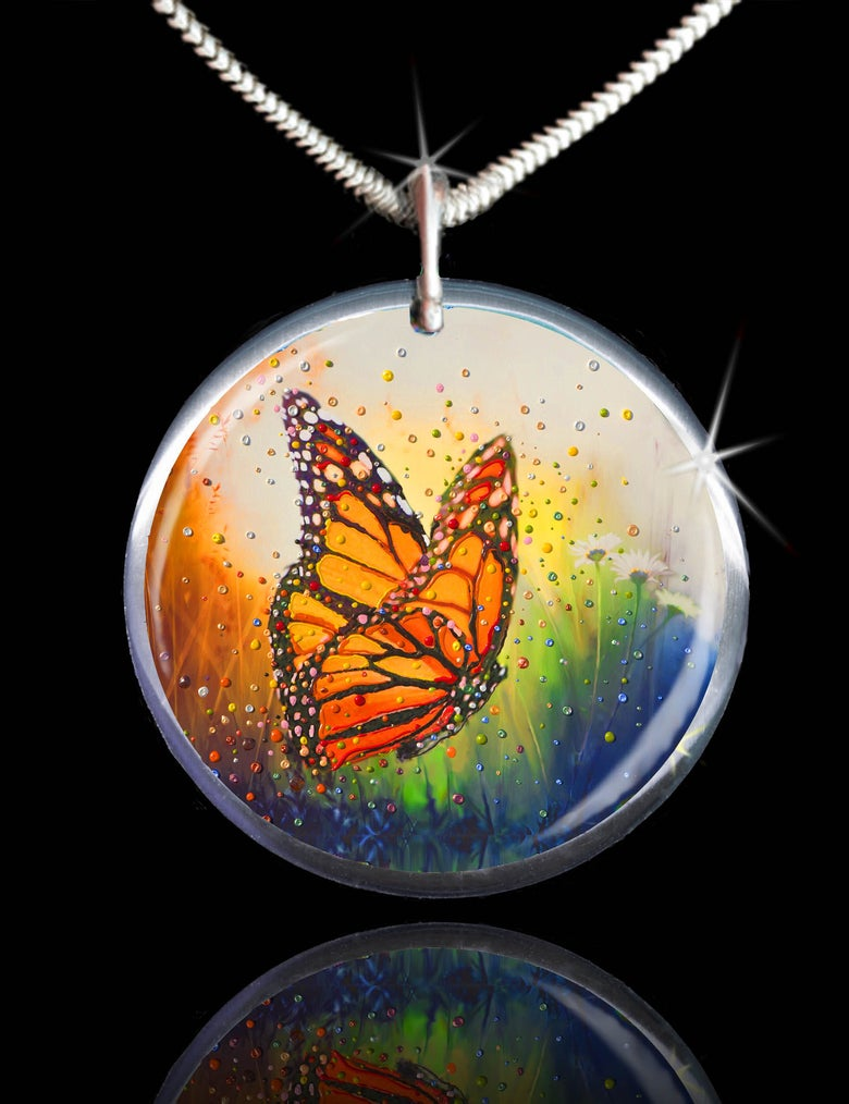 """Image of Butterfly """"In The Moment"""" Energy Pendant"""