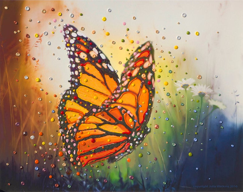 "Image of Butterfly ""In The Moment"" Energy Painting - Gicleee Print"