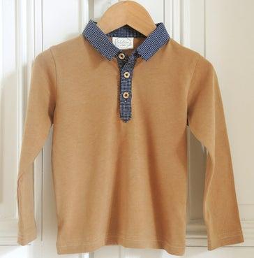 """Image of AW1617 <> Tshirt polo bébé garçon """"JO Jacquard"""" manches longues"""