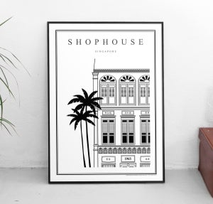 Image of Shophouse (Architectural Icon Series) (Fine Art Print)