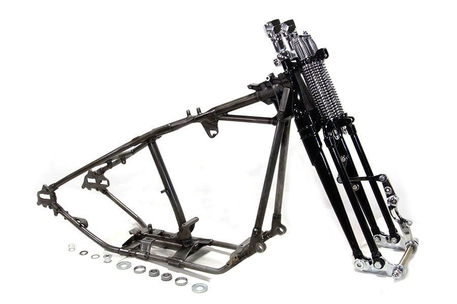 give it full throttle  u2014 replica harley davidson flsts softail frame kit black springer 30 u00b0 rake