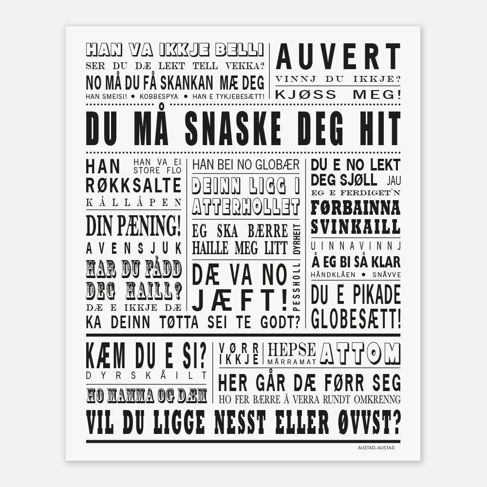 """Image of Senja plakat """"Du må snaske deg hit"""""""