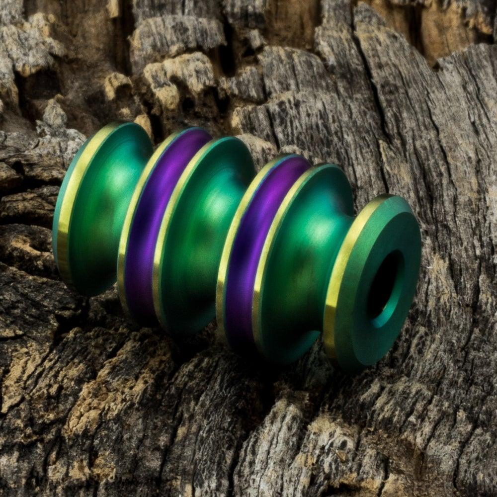 Image of Kraken Bead Green, Purple & Gold #1