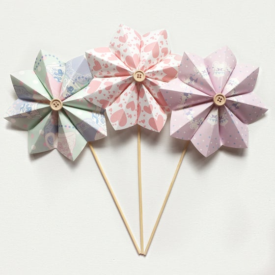 Image of Patterned Paper Flowers - P1 to P16