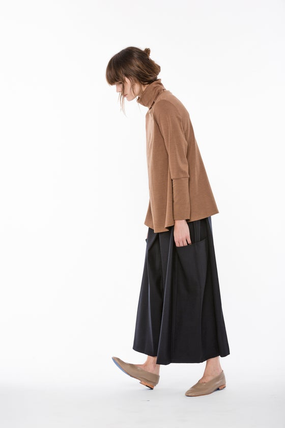 Image of Wool Enders Culotte | Navy