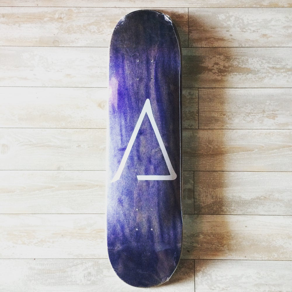 Image of 'A' SKATEBOARD DECK 8.5""