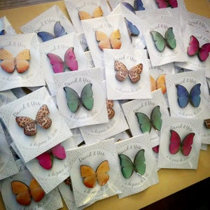 Image of Pack 100 broches mariposas variadas