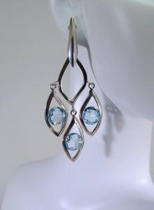 Image of Tratti Blu Chandelier Earrings