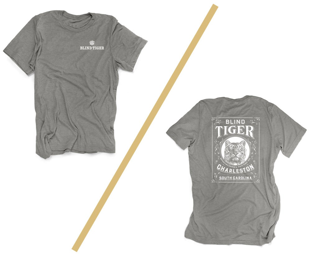 Image of Blind Tiger T-Shirt: Stone Grey