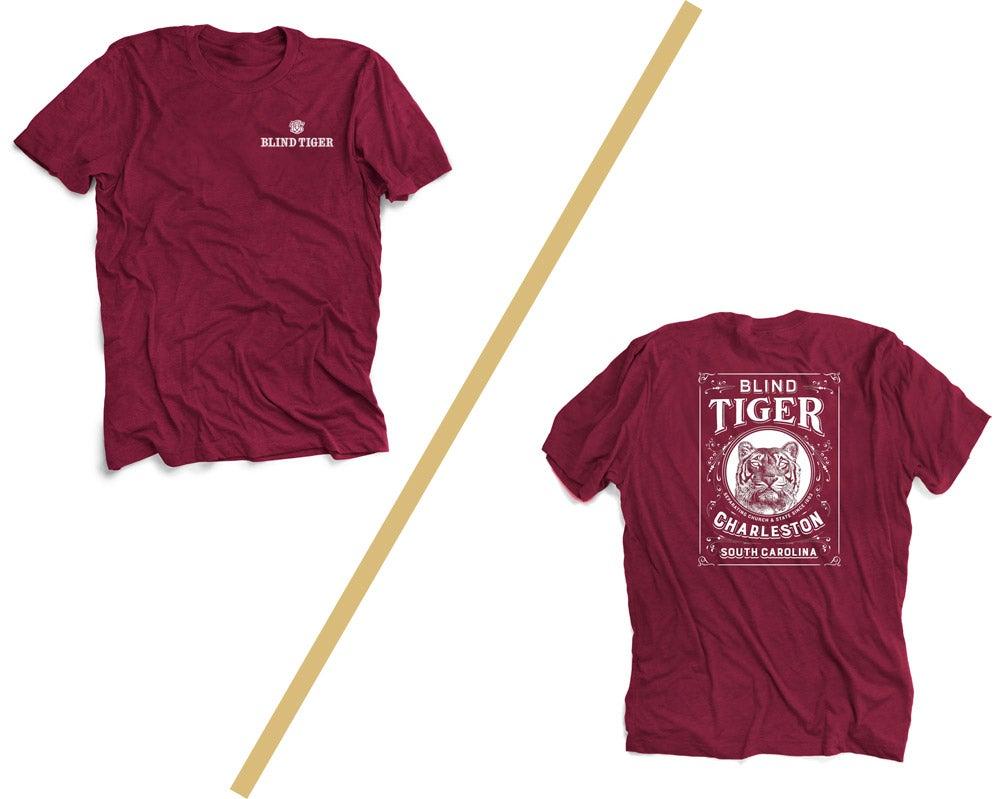 Image of Blind Tiger T-Shirt: Cardinal