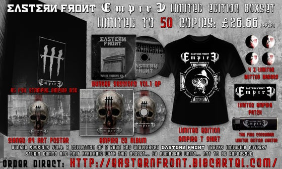 Image of **NEW*** EASTERN FRONT 'EMPIRE' LIMITED EDITION BOXSET BUNDLE - 50 COPIES - WEB ONLY PRE-ORDER