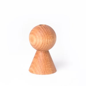 Image of Bud Vase - Globe / Oak