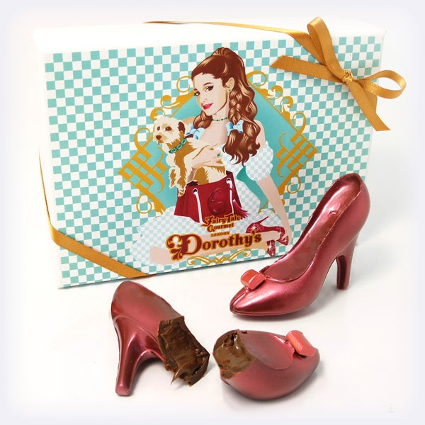 Image of Dorothy's Ruby Chocolate Shoes Filled with Nutella