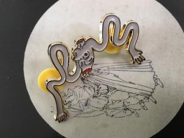 Image of Wiggly Arms Enamel Pin