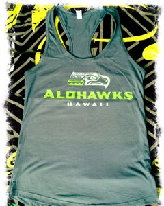 Image of Alohawks Women Tanks Light Gray