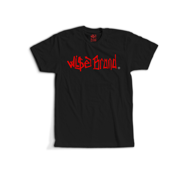 Image of WI$E BRAND LOGO TEE (BLK/RED)